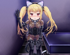 Rating: Explicit Score: 2 Tags: 1girl animal_ears bdsm blonde_hair blush bondage bound butt_plug butt_plug_tail cat_ears chimotabo_no_mago collar fake_animal_ears fake_tail highres latex_bodysuit long_hair looking_at_viewer nipple_piercing original piercing red_eyes revealing_clothes solo sweat tail twin_tails User: DMSchmidt