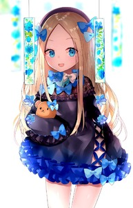 Rating: Safe Score: 2 Tags: 1girl :d abigail_williams_(fate/grand_order) alternate_costume bangs beret black_dress black_headwear blonde_hair blue_bow blue_eyes blue_flower blue_rose blurry blurry_background blush bow depth_of_field dress eyebrows_visible_through_hair fate/grand_order fate_(series) flower forehead frilled_dress frills hair_bow hat long_hair long_sleeves looking_at_viewer object_hug open_mouth parted_bangs rose sakipsakip simple_background sleeves_past_fingers sleeves_past_wrists smile solo stuffed_animal stuffed_toy teddy_bear very_long_hair white_background white_bow User: DMSchmidt