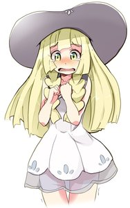 Rating: Safe Score: 4 Tags: 1girl absurdres blonde_hair braid dress green_eyes hat highres lillie_(pokemon) long_hair open_mouth pokemon pokemon_(game) pokemon_sm rakkogawa_rinro scared see-through simple_background sleeveless sleeveless_dress solo sun_hat tears trembling twin_braids white_background white_dress white_headwear User: DMSchmidt
