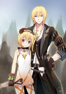 Rating: Safe Score: 0 Tags: 1boy 1girl blonde_hair blue_eyes brother_and_sister choker edna_(tales) eizen_(tales) gloves hairband hand_on_another's_head highres piripun ribbon short_hair siblings side_ponytail smile tales_of_(series) tales_of_berseria tales_of_zestiria umbrella User: DMSchmidt