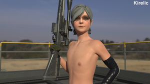 Rating: Explicit Score: 4 Tags: 3dcg face_paint flat_chest kirelic metal_gear_solid metal_gear_solid_4 nipples photorealistic posing sniper_rifle sunny_emmerich sunny_gurlukovich topless User: cugomi