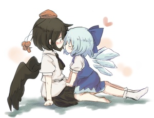Rating: Safe Score: 2 Tags: 2girls barefoot bird_wings black_hair black_ribbon black_wings blue_dress blue_hair bow cirno closed_eyes dress feathered_wings hat highres ice ice_wings imminent_kiss kototoki multiple_girls open_eyes pom_pom_(clothes) ribbon shameimaru_aya short_hair skirt tokin_hat touhou_project white_legwear wings yuri User: DMSchmidt