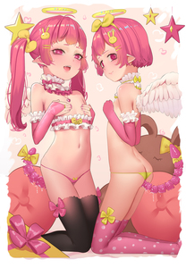 Rating: Explicit Score: 1 Tags: 2girls anal anal_object_insertion angel angel_wings ass black_legwear bow bow_panties breast_hold breasts bridal_gauntlets covering covering_breasts elbow_gloves frills gloves hair_bow hair_ornament hairclip halo highres hk_(artist) hk_(hk) jewellery kneeling long_hair looking_at_viewer looking_back multiple_girls navel necklace no_bra object_insertion open_mouth original pantsu pink_hair pink_pantsu pointy_ears pussy_juice revision short_hair smile spotted_legwear tail thighhighs topless twin_tails underwear wings yellow_panties yuri User: DMSchmidt