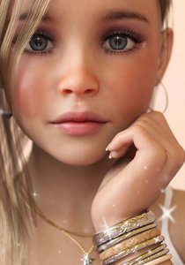 Rating: Safe Score: 56 Tags: 1girl 3dcg blonde_hair bracelet close-up earrings grey_eyes highres jewellery light_smile long_fingernails looking_at_viewer necklace photorealistic rezure solo wide-eyed User: Software