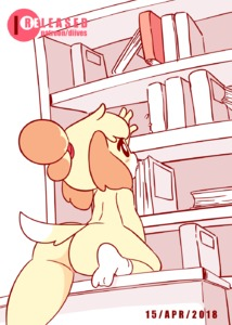 Rating: Questionable Score: 7 Tags: 1girl >_< animal_ears animated anus arm_up artist_name ass black_eyes blonde_hair blush blush_stickers book bookshelf dated diives dog_ears dog_tail doubutsu_no_mori flying_sweatdrops gif hair_tie highres indoors kemono no_humans nude patreon_logo patreon_username pussy reaching shizue_(doubutsu_no_mori) short_hair socks solo spread_legs tail tail_wagging text text_focus tied_hair uncensored watermark web_address white_legwear User: Domestic_Importer
