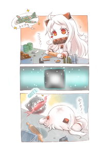 Rating: Safe Score: 0 Tags: 10s 1girl ahoge aircraft airplane blush blush_stickers dress gameplay_mechanics hammer horns kantai_collection long_hair mittens northern_ocean_hime pale_skin red_eyes reppuu_(kantai_collection) rolling_pin shinkaisei-kan solo translation_request white_dress white_hair white_skin yaosera User: Domestic_Importer