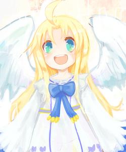 Rating: Safe Score: 1 Tags: 1girl :d aqua_eyes blonde_hair bow firo_(tate_no_yuusha_no_nariagari) kopipako long_hair open_mouth smile solo tate_no_yuusha_no_nariagari white_wings wings User: DMSchmidt