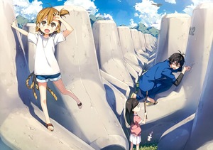 Rating: Safe Score: 1 Tags: >_d 1boy 2girls :d absurdres barakamon black_hair brown_eyes brown_hair handa_seishuu highres huge_filesize jinbei_(clothes) kantoku kotoishi_naru kubota_hina multiple_girls one_side_up open_mouth sandals short_hair shorts side_ponytail smile t-shirt tetrapod User: DMSchmidt