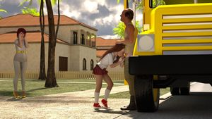 Rating: Explicit Score: 39 Tags: 1boy 1girl 3dcg age_difference belt closed_eyes fellatio hand_on_another's_head high_heels highres holding_penis long_hair lunarctic mother_and_daughter oral outdoors photorealistic red_hair school_bus school_uniform shoes short_hair skirt socks standing surprised User: fantasy-lover