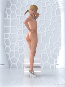 Rating: Explicit Score: 2 Tags: 1girl 3dcg ass bangs blonde_hair blunt_bangs flat_chest hair_ribbon high_heels libby looking_at_viewer navel nipples nude photorealistic pose pussy ribbon spudnuts standing tan tanline twin_tails User: sandlecrantz
