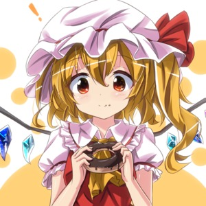 Rating: Safe Score: 0 Tags: ! 1girl ascot bangs blush chocolate closed_mouth crystal demon_wings doughnut eating eyebrows_visible_through_hair flandre_scarlet food food_on_face frilled_shirt_collar frilled_sleeves frills hair_between_eyes hat hat_ribbon holding holding_food icing long_hair looking_at_viewer mob_cap puffy_short_sleeves puffy_sleeves red_eyes red_ribbon red_vest ribbon ryogo sanpaku shirt short_sleeves side_ponytail solo sweets tareme touhou_project two-tone_background upper_body vest wavy_hair white_hat white_shirt wings yellow_ascot User: DMSchmidt