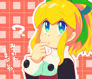 Rating: Safe Score: 0 Tags: 1girl ? artist_request blonde_hair blue_eyes buttons capcom hair_ribbon long_hair long_sleeves ponytail puffy_long_sleeves puffy_sleeves ribbon rockman rockman_(classic) roll sidelocks solo translated User: DMSchmidt