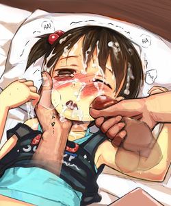 Rating: Explicit Score: 1 Tags: 1girl armpits blush brown_eyes brown_hair censored cum cum_in_mouth cum_on_hair facial hair_bobbles hair_ornament hard_translated ichigo_mashimaro itou_chika lying on_back one_eye_closed open_mouth penis penis_on_face rape short_hair side_ponytail sweat tears translated walkalone User: Domestic_Importer