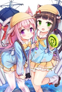 Rating: Safe Score: 0 Tags: 2girls :d animal_ears azur_lane bangs bell between_fingers blue_shirt blush bow bowtie brown_footwear brown_hair candy cat_ears cat_girl cat_tail closed_mouth collarbone ears_through_headwear eyebrows_visible_through_hair fangs fingernails food green_eyes hair_between_eyes hair_bow hair_ribbon hat highres holding holding_lollipop jin_young-in jingle_bell kindergarten_uniform kisaragi_(azur_lane) lifebuoy lollipop long_hair long_sleeves looking_at_viewer loose_socks low_twintails machinery multiple_girls mutsuki_(azur_lane) neckerchief one_side_up open_mouth pink_hair pleated_skirt pulled_by_self purple_eyes red_bow red_ribbon ribbon ripples school_hat shirt shoes sidelocks signature skirt smile socks standing standing_on_one_leg swirl_lollipop tail tail_bell tail_bow thighhighs thighhighs_pull torpedo twin_tails very_long_hair water wavy_mouth white_background white_legwear yellow_hat yellow_neckwear yellow_skirt User: DMSchmidt