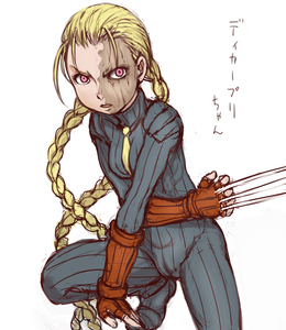 Rating: Safe Score: 0 Tags: 1girl antenna_hair blonde_hair bodysuit braid breasts claw_(weapon) decapre e10 fingerless_gloves gloves long_hair necktie no_mask orange_eyes scar shoulder_pads small_breasts solo street_fighter twin_braids User: DMSchmidt