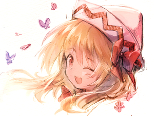 Rating: Safe Score: 0 Tags: 1girl ;d bangs blonde_hair blush bow bug butterfly eyebrows_visible_through_hair hair_bow hat insect lily_white long_hair looking_at_viewer mom_bolo one_eye_closed open_mouth portrait red_bow red_eyes red_neckwear simple_background smile solo touhou_project white_background white_hat User: DMSchmidt