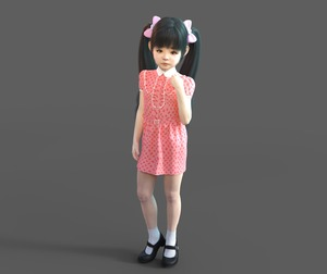 Rating: Safe Score: 7 Tags: 3dcg bangs black_eyes black_hair blunt_bangs bow closed_mouth dress full_body hair_bow honeyselector long_hair looking_at_viewer mary_janes original photorealistic pink_dress shoes simple_background socks standing strawberry_print twin_tails white_legwear User: Domestic_Importer
