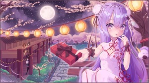 Rating: Safe Score: 4 Tags: 1girl alternate_costume ayanami_(azur_lane) azur_lane bangs blush box breasts bun_cover cherry_blossoms china_dress chinese_clothes cleavage cleavage_cutout double_bun dress eyebrows_visible_through_hair eyes_visible_through_hair gift gift_box grass hair_between_eyes heart highres holding holding_gift javelin_(azur_lane) kouriiko lantern looking_at_viewer moon night night_sky ning_hai_(azur_lane) paper_lantern path ping_hai_(azur_lane) purple_eyes purple_hair road sky small_breasts solo_focus souryuu_(azur_lane) star stuffed_alicorn tree unicorn_(azur_lane) white_dress wrist_cuffs User: DMSchmidt