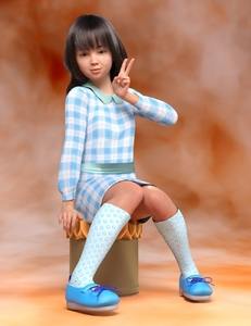 Rating: Safe Score: 2 Tags: 1girl 3dcg bangs blunt_bangs dress long_hair looking_at_viewer photorealistic pose randy8823 shadow shoes sitting smile socks v User: fantasy-lover