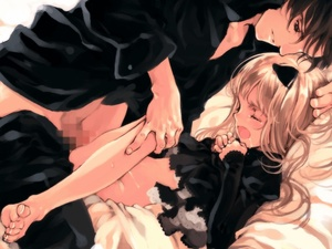 Rating: Explicit Score: 6 Tags: 1boy 1girl age_difference animal_ears bangs barefoot bed black_eyes black_hair blonde_hair blush cat_ears censored closed_eyes clothed_sex cum cum_on_body cum_on_lower_body cumdrip dress dress_lift dress_shirt drooling dutch_angle ema_(shirotsume_souwa) feet foreshortening game_cg gothic_lolita grin hand_on_head hands_on_own_chest indoors kneeling lace leaning_forward leg_grab legs lolita_fashion long_hair lying missionary mosaic_censoring nopan on_back ooyari_ashito open_mouth orgasm pants pants_pull parted_bangs penis profile pussy reclining saliva sex shirotsume_souwa shirt short_hair skinny smile spread_legs sweat tears testicles toes tsunakawa_souji vaginal User: DMSchmidt