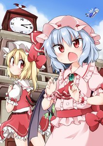 Rating: Safe Score: 0 Tags: 3girls ^_^ ascot bangs bat_wings belt blonde_hair blue_bow blue_dress blue_hair blue_sky blush bow brooch brown_footwear center_frills cirno clock clock_tower closed_eyes cloud cowboy_shot crystal day dress eyebrows_visible_through_hair eyes_visible_through_hair fang flandre_scarlet flying frilled_shirt_collar frills from_behind from_below hair_between_eyes hair_bow hand_up hands_up hat hat_bow hat_ribbon highres ice ice_wings jewellery long_hair looking_at_another looking_at_viewer looking_back mob_cap multiple_girls neck_ribbon one_side_up open_mouth outdoors petticoat pinafore_dress pink_dress pink_hat puffy_short_sleeves puffy_sleeves red_bow red_eyes red_neckwear red_ribbon red_sash red_skirt red_vest remilia_scarlet ribbon roman_numerals sash scarlet_devil_mansion shiny shiny_skin shirt shoes short_hair short_sleeves siblings sisters skirt skirt_set sky socks standing suwa_yasai sweat thighs touhou_project tower very_long_hair vest white_hat white_legwear white_shirt wings wrist_cuffs User: DMSchmidt