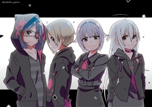 Rating: Safe Score: 1 Tags: 4girls ahoge black_hair blonde_hair blood blood_stain choker crossed_arms ear_piercing eyebrows_visible_through_hair eyepatch grin hand_in_pocket hayasaka_mirei hood hood_down hood_up hooded_jacket hoodie hoshi_shouko idolmaster idolmaster_cinderella_girls jacket koshimizu_sachiko lavender_hair letterboxed lineup long_sleeves looking_at_viewer multiple_girls open_clothes open_jacket piercing profile shirasaka_koume shirt short_hair smile striped striped_shirt twitter_username white_hair yadokugaeru User: DMSchmidt