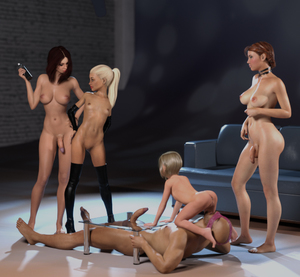 Rating: Explicit Score: 27 Tags: 3dcg 4girls age_difference ass bald black_legwear blonde_hair breasts brown_hair couch detached_sleeves femdom flat_chest full_body girl_on_top hermaphrodite imminent_cunnilingus long_hair looking_at_another lying medium_breasts multiple_girls multiple_penises navel newhalf nipples nude on_back original penis photorealistic profile shadow shoejob standing starkers testicles thighhigh_boots uncensored User: Domestic_Importer