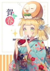 Rating: Safe Score: 0 Tags: 1girl 2017 alternate_hairstyle bad_id bad_twitter_id blonde_hair bowl chopsticks eating floral_print flower food gen_7_pokemon green_eyes hair_flower hair_ornament japanese_clothes kimono lillie_(pokemon) long_hair mochi obi pokemon pokemon_(creature) pokemon_(game) pokemon_sm rowlet sash wagashi wide_sleeves yuno_tsuitta User: DMSchmidt