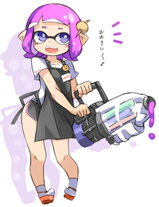 Rating: Safe Score: 1 Tags: 1girl :d apron badge blush button_badge domino_mask fangs full_body ink inkling karukan_(monjya) mask open_mouth purple_eyes purple_hair smile solo splatoon_(series) standing tentacle_hair translation_request white_background User: DMSchmidt