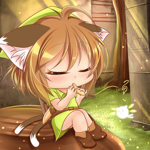 Rating: Safe Score: 0 Tags: 1girl ahoge animal_ears bangs belt blush boots brown_boots brown_hair cat_ears cat_tail chen chibi closed_eyes cracked_wall day deformed fairy grass green_hat hat instrument kurumai light_particles light_rays multiple_tails musical_note nintendo ocarina outdoors plant playing_instrument sheath sheathed shield shiny shiny_hair shiny_skin short_hair sitting solo sunlight tail team_shanghai_alice temple the_legend_of_zelda the_legend_of_zelda:_ocarina_of_time touhou_project tree tree_stump triforce tunic User: Domestic_Importer