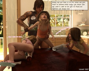 Rating: Explicit Score: 35 Tags: 1boy 3dcg 3girls age_difference alcohol anal anal_object_insertion ass english flat_chest from_behind grimace hat held_up kitchen multiple_girls object_insertion open_mouth original penis photorealistic sex shoes smile testicles vaginal venesti User: fantasy-lover