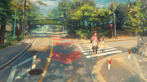 Rating: Safe Score: 0 Tags: 2girls bag black_legwear blue_eyes blue_sky bridge brown_dress brown_eyes brown_hair clannad cloud crosswalk dappled_sunlight day dress highres holding_hands ibuki_fuuko jacket lamppost long_hair long_sleeves making-of_available mary_janes multiple_girls okazaki_ushio outdoors pantyhose pink_shirt power_lines red_footwear road road_sign scenery shirt shoes short_hair shoulder_bag sidewalk sign signature sky sleeveless sleeveless_dress stairs street sunlight telephone_pole tree walking white_jacket xiaobanbei_milk yellow_dress yellow_footwear User: Domestic_Importer