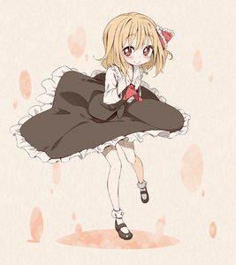 Rating: Safe Score: 0 Tags: 1girl ascot blonde_hair blush bobby_socks full_body hair_ribbon hands_on_own_chest heart highres jigatei_(omijin) mary_janes omijin red_eyes ribbon rumia shirt shoes short_hair skirt skirt_set smile socks solo touhou_project vest white_legwear youkai User: ShizKoE2