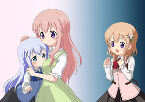 Rating: Safe Score: 0 Tags: 3girls bangs black_skirt blue_eyes blue_neckwear blue_vest bluebrute blush bow bowtie breasts buttons closed_mouth collared_shirt cowboy_shot dress eyebrows_visible_through_hair flat_chest gochuumon_wa_usagi_desu_ka? gradient gradient_background green_dress hair_ornament hairclip hand_on_another's_head heads-up_display hoto_cocoa hoto_mocha kafuu_chino light_blue_hair long_hair long_sleeves looking_at_another medium_breasts multiple_girls open_mouth orange_hair parted_lips petting puffy_short_sleeves puffy_sleeves purple_eyes rabbit_house_uniform red_neckwear shirt short_sleeves siblings sidelocks sisters skirt small_breasts smile two-tone_background undershirt vest white_shirt wing_collar x_hair_ornament User: Domestic_Importer