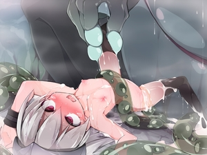 Rating: Explicit Score: 6 Tags: 1girl after_rape after_sex animal armpits arms_up bestiality black_hair blush cum cum_on_body cum_on_lower_body cum_on_upper_body flat_chest frogspawn fucked_silly helmet highres leg_lift legs_grab long_hair lying monster morino_donguri nipples nude on_back open_mouth original oversized_animal pregnant red_eyes silver_hair spread_legs tears thighhighs toad_(animal) wide-eyed User: Domestic_Importer