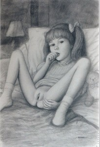 Rating: Explicit Score: 46 Tags: 1girl ankle_socks bangs blunt_bangs bottomless bow brian_babinski clitoral_hood flat_chest hair_ribbon knees_up lamp legs_apart looking_at_viewer monochrome mound_of_venus on_bed pillow pussy ribbon socks solo spread_legs stuffed_animal stuffed_toy teddy_bear thumb_sucking twin_tails User: mythified