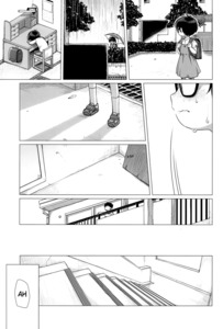 Rating: Safe Score: 0 Tags: 1girl absurdres backpack bag black_hair blush closed_mouth desk dress glasses greyscale hard_translated highres miyasaka_takaji monochrome original rain randoseru shoes sitting socks solo stairs standing text third-party_edit tomboy translated umbrella white_legwear User: Domestic_Importer