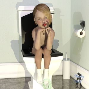 Rating: Questionable Score: 8 Tags: 1girl 3dcg ankle_socks blonde_hair candy earrings heart_necklace jewellery licking light_blue_eyes lollipop looking_at_viewer nude pantsu pantsu_around_one_leg photorealistic short_hair sitting_on_toilet slimdog solo toilet underwear User: yobsolo