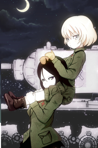 Rating: Safe Score: 0 Tags: 2girls :t actas blonde_hair blue_eyes blush boots brown_hair carrying cloud coveralls crescent_moon girls_und_panzer jacket katyusha long_hair long_sleeves looking_at_viewer military military_uniform military_vehicle mittens moon motor_vehicle multiple_girls night night_sky nonna piggyback psyzuka short_hair skirt sky standing t-34 tank uniform vehicle User: DMSchmidt