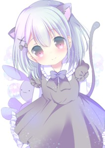 Rating: Safe Score: 2 Tags: 1girl :3 animal_ears bangs black_bow black_dress bow cat_ears cat_girl cat_tail closed_mouth collared_shirt dress eyebrows_visible_through_hair frilled_dress frilled_shirt_collar frilled_sleeves frills grey_hair hair_between_eyes hair_bow hair_ornament head_tilt holding holding_stuffed_animal long_sleeves looking_at_viewer original pink_eyes puffy_short_sleeves puffy_sleeves rin_(fuwarin) shirt short_over_long_sleeves short_sleeves smile solo star stuffed_animal stuffed_bunny stuffed_toy tail white_shirt x_hair_ornament User: DMSchmidt
