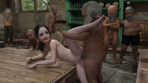 Rating: Explicit Score: 33 Tags: 10s 1girl 3dcg 6+boys age_difference anus ass barefoot beard flat_chest glasses highres koare long_hair looking_back multiple_boys navel nude penis photorealistic pussy realistic sex sherry_birkin smile snow_white_and_the_seven_dwarfs standing testicles uncensored vaginal User: lolifiedtrap