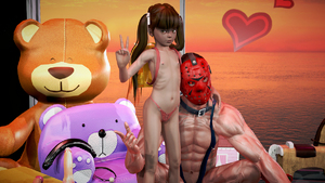 Rating: Questionable Score: 14 Tags: 1boy 1girl 3dcg age_difference backpack bag bangs blunt_bangs brown_hair collar dildo flat_chest hair_ribbon heatsink leash looking_at_viewer mask nail_polish navel nipples nude obedience_training pantsu penis photorealistic pose rape ribbon sex_toy sitting standing stuffed_animal stuffed_toy twin_tails underwear v User: fantasy-lover