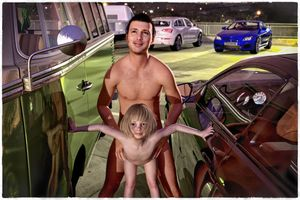Rating: Explicit Score: 46 Tags: 1boy 1girl 3dcg age_difference artist_name bangs barefoot blonde_hair blunt_bangs car flat_chest from_behind hetero looking_at_viewer nipples nude original penis photorealistic pussy slimdog smile standing steering_wheel toddlercon uncensored User: lalilu1234