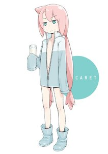Rating: Safe Score: 1 Tags: 1girl >:( bangs blue_eyes blue_footwear blush boots character_name cup dress drinking_glass eyebrows_visible_through_hair flat_chest frown full_body glass highres holding holding_cup long_hair long_sleeves looking_afar low-tied_long_hair low_tied_hair low_twintails milk navel nukomasu open_clothes open_dress original oversized_clothes pink_hair simple_background sleeves_past_fingers sleeves_past_wrists solo standing twin_tails unzipped v-shaped_eyebrows very_long_hair white_background zipper User: DMSchmidt