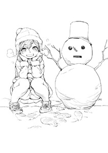 Rating: Safe Score: 1 Tags: 1girl blush breath cold flat_chest highres looking_at_viewer mizu monochrome original outdoors pantsu shoes short_hair smile sneakers snow snow_man snowman solo squatting thighs underwear upskirt User: DMSchmidt
