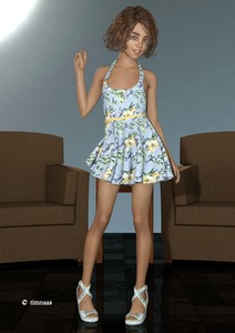Rating: Safe Score: 1 Tags: 1girl 3d_custom_girl 3dcg artist_name blue_eyes bracelet brown_hair chair feet flat_chest heart_necklace high_heels jewellery looking_at_viewer mole necklace photorealistic sandals short_dress short_hair smile solo sundress table tile_floor timnaas User: Software