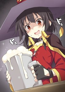 Rating: Safe Score: 1 Tags: 1girl akizora_momiji alcohol beer beer_mug black_hair cape choker fingerless_gloves gloves hat highres kono_subarashii_sekai_ni_shukufuku_wo! megumin red_eyes saliva solo witch_hat User: DMSchmidt