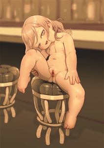 Rating: Explicit Score: 12 Tags: 1g 1girl absurdres anus barefoot censored feet feral_lemma flat_chest full_body greyscale hair_ornament hairclip highres leg_lift looking_at_viewer mosaic_censoring nude original plump pussy shiny_skin sitting solo stool User: Domestic_Importer