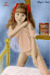 Rating: Explicit Score: 19 Tags: 1girl bangs bed bedroom blue_eyes blunt_bangs bottomless breasts brian_babinski brown_hair flat_chest hair_ornament hair_ribbon legwear looking_at_viewer nude pink_legwear pussy red_ribbon ribbon richard_harris see-through_top small_breasts thighhighs transparent twin_tails uncensored User: Software