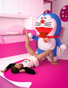 Rating: Questionable Score: 40 Tags: 1girl 3dcg bell closed_eyes closed_mouth doraemon doraemon_(character) dress dress_lift highres holding holding_pantsu indoors long_sleeves lying nopan on_back open_mouth pantsu photorealistic pillow pussy shadow sleeping smile spread_legs standing star_print tongue tongue_out toufu_(tofusan) uncensored underwear whiskers User: Domestic_Importer